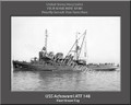 USS Achowami ATF 148 Personalized Ship Photo on Canvas Print