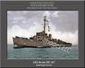 USS Acree DE 167 Personalized Ship Photo on Canvas Print