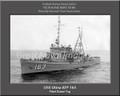 USS Utina ATF 163 Personalized Ship Canvas Print
