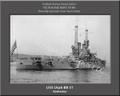 USS Utah BB 31 Personalized Ship Photo 2 on Canvas Print