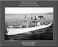 USS Picket AGR 7 Personalized Ship Photo 2 on Canvas Print