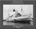 USS Lejeune AP 74 Personalized Ship Photo 2 on Canvas Print