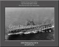 USS Enterprise CV 6 Personalized Ship Photo 2 on Canvas Print