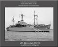 USS Adirondack AGC 15  Personalized Ship Photo 2 Canvas Print
