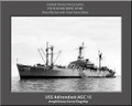 USS Adirondack AGC 15  Personalized Ship Photo 3 Canvas Print