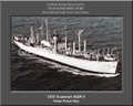 USS Scanner AGR 5 Personalized Ship Photo on Canvas Print