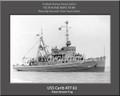 USS Carib ATF 82 Personalized Ship Canvas Print