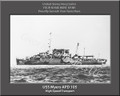 USS Meyers APD 105 Personalized Ship Photo Canvas Print