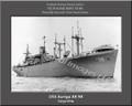 USS Auriga AK 98 Personalized Ship Photo Canvas Print