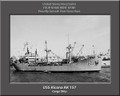 USS Alcona AK 157 Personalized Ship Photo Canvas Print