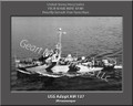 USS Adopt AM 137 Personalized Ship Photo Canvas Print
