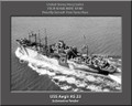 USS Aegir AS 23 Personalized Ship Photo on Canvas Print