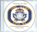 USS Gary FFG 51 Decommissioning Program on CD Plank Owner