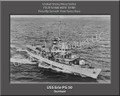 USS Erie PG 50 Personalized Ship Canvas Print Photo  US Navy Veteran Gift