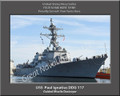 USS Paul Ignatius DDG 117 Personalized Ship Canvas Print