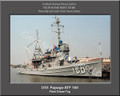 USS Papago ATF 160 Personalized Ship Canvas Print