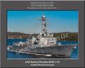 USS Rafael Peralta DDG 115 Personalized Ship Canvas Print
