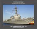 USS Thomas Hudner DDG 116 Personalized Ship Canvas Print