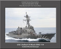 USS Delbert D Black DDG 119 Personalized Ship Canvas Print