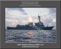 USS Ralph Johnson DDG 114 Personalized Ship Canvas Print
