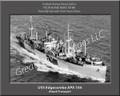 USS Edgecombe APA 164 Personalized Ship Canvas Print