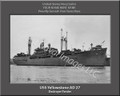 USS Yellowstone AD 27 Personalized Ship Canvas Print 2