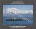 USS Theodore Roosevelt CVN 71 Sailor Ship Canvas Print 3