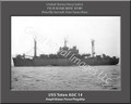 USS Teton AGC 14 Personalized Ship Canvas Print