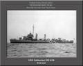 USS Satterlee DD 626 Personalized Ship Canvas Print