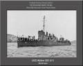 USS Alden DD 211 Personalized Ship Canvas Print