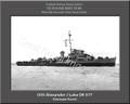 USS Alexander J Luke DE 577 Personalized Ship Canvas Print