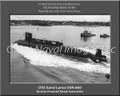 USS Sand Lance SSN 669 Submariner Personalized Canvas Print Photo