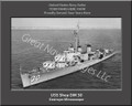 USS Shea DM 30 Ship Personalized Canvas Print Photo