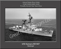 USS Somers DD 947 Personalized Ship Canvas Print #2