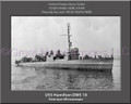 USS Hamilton DMS 18 Personalized Ship Canvas Print