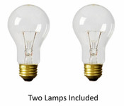 Twin Pack 25 Watt Incandescent Lamps Clear NC/25A19CL2