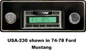 Custom AutoSound 1972-79 Torino USA-230 In Dash AM/FM