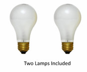 Twin Pack 100 Watt Incandescent Lamps (Frosted) NC/100A19FR2