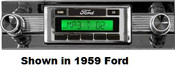 Custom AutoSound 1957-58 Ford USA-630 In Dash AM/FM