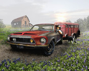 "Danny Johnson Automotive Art ""FarmVehicle"""