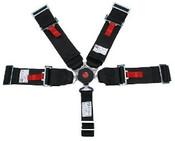 5Pt. Black Cam Lock Racing Harness