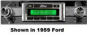 Custom AutoSound 1959 Ford USA-630 In Dash AM/FM