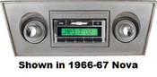 Custom AutoSound 1966-67 Nova USA-630 In Dash AM/FM