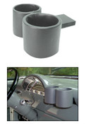1956 Ford Truck Dual Dashboard Plug & Chug Drink Holder