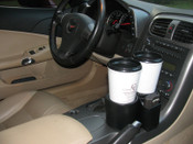 "2005-2013 C6 Corvette ""Plug & Chug"" Duel Drink Holder"