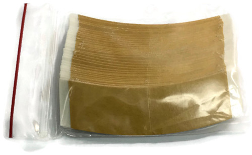 Brown Liner White Cloth Hairpiece Tape Contour C