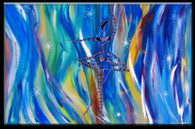 """Blue Ballerina"" Contemporary Original Acrylic Painting on Canvas"