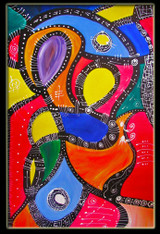 """Protection of Love"" CONTEMPORARY ORIGINAL ACRYLIC PAINTING ON CANVAS"