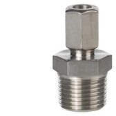 Siemens AQE2102 Compression fitting with threaded nipple 1/2""