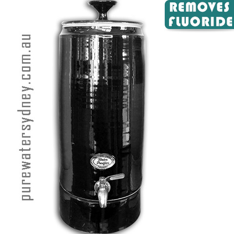 Ultra slim black pearl gravity water purifier with fluoride filter